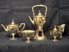 Tiffany Sterling Tea Set; Five Pieces