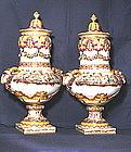 Capodimonte Covered Urns Pair