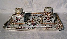 Samson Armorial Inkstand with Two Wells