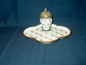 Porcelain Inkwell; Sevres