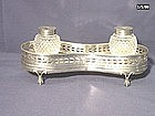 George III Sterling Silver Inkstand; 1779