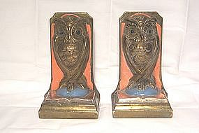 Bronze Owl Bookends 1920's
