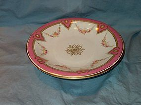 Pink Gilded Staffordshire Tazza