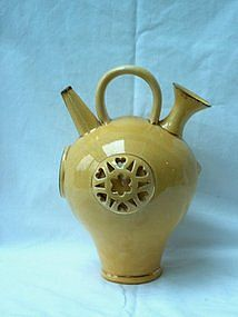 Yellow Bathysphere Shaped Ewer; Fischer Budapest