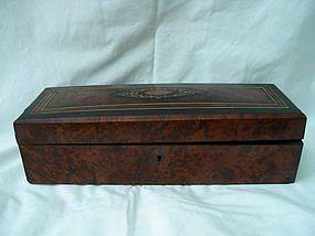 Victorian Mahogany Glove Box