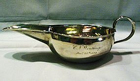 Rare Early American Silver Pap Boat