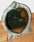 English Victorian Heart Shaped Silver Mirror Wm. Comyns