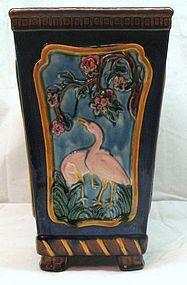 Minton Majolica Swan Vase