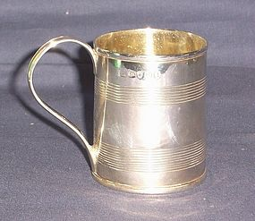 Georgian Silver Mug Robert Garrard I 1807