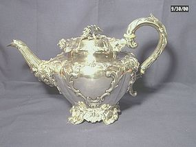 Early Victorian Sterling Silver Teapot; 1838