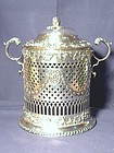 Late Victorian Silver Plate Biscuit Barrel
