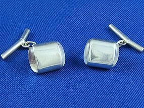 ANTONIO PINEDA Silver & Moonstone Cuff Links 1948-53