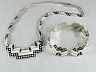 MARGOT DE TAXCO Silver & Enamel Necklace & Bracelet