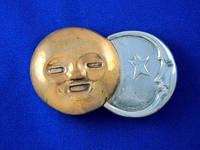 WILLLIAM SPRATLING Sun & Moon Silver & Copper Pin