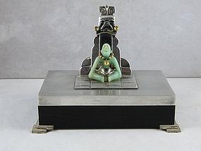 Wolmar Castillo Ebony Sterling  Jade & Gold Box