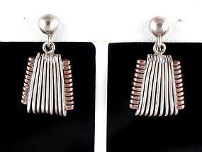 HECTOR AGUILAR EARRINGS SILVER & COPPER