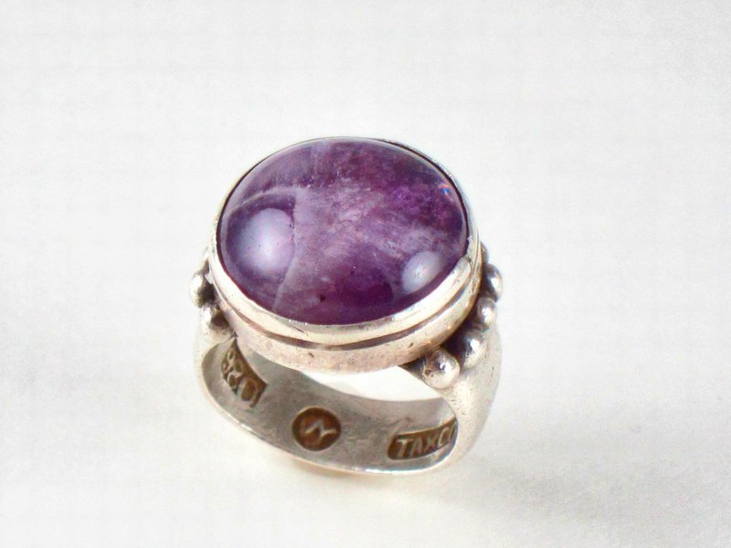 WILLIAM SPRATLING RING AMETHYST & 980 SILVER
