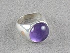 WILLIAM SPRATLING SILVER, AMETHYST & COPPER RING