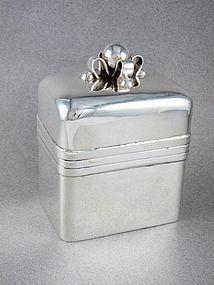 WILLIAM SPRATLING VINTAGE STERLING SILVER TEA CADDY BOX