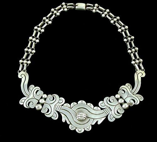 VINTAGE HECTOR AGUILAR OLD MAGUEY SILVER NECKLACE