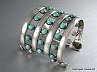 HECTOR AGUILAR TURQUOISE & SILVER BRACELET