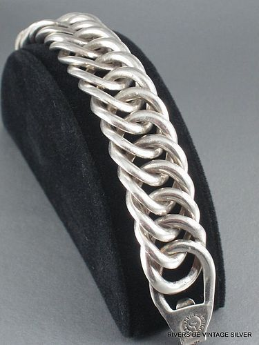 William Spratling Silver Link Bracelet Vintage 1940's