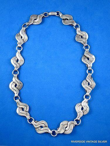 William Spratling Vintage Silver Necklace 1940's