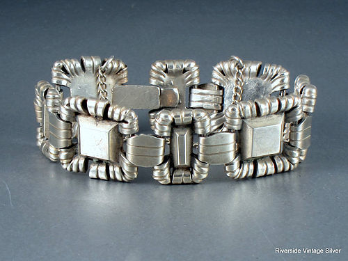WILLIAM SPRATLING Silver Crowned Pyramid Bracelet