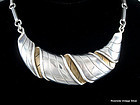 "WILLIAM SPRATLING ""Croissant"" Silver Necklace"