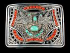 MATL Matilde Poulat Buckle Silver Turquoise & Coral