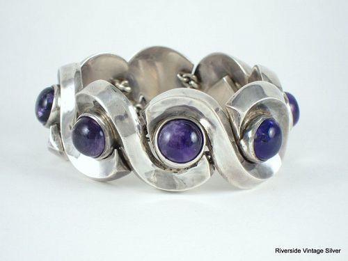 ANTONIO Pineda Bracelet Amethyst & 970 Sterling Silver