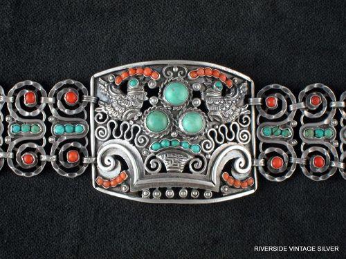 MATL, Matilde Poulat Bracelet - Silver, Turquoise & Coral