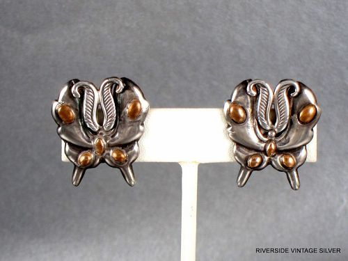 William SPRATLING Earrings Silver  Butterfly 1940's