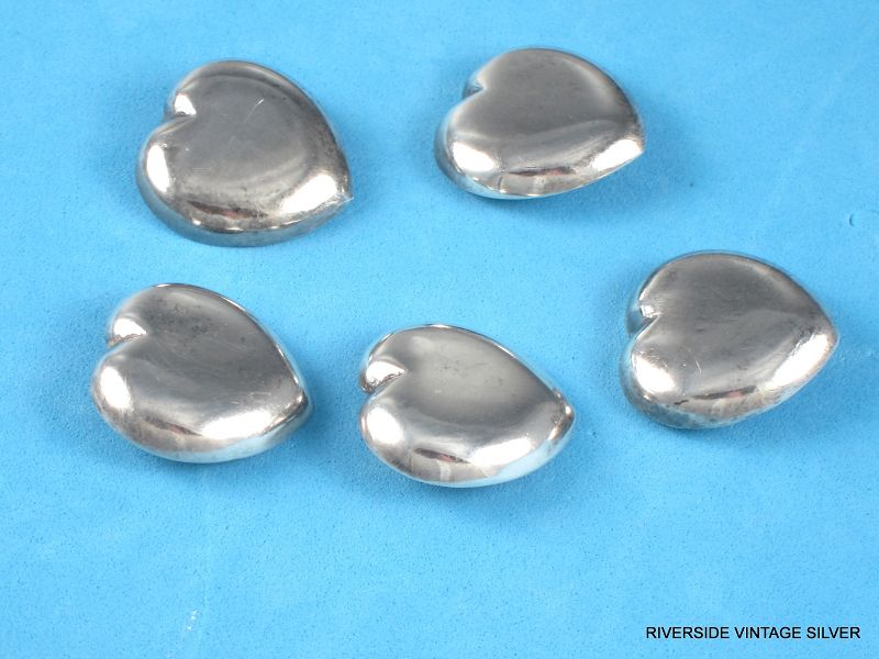 William SPRATLING  Buttons - Rare Puffy Hearts - Sterling Silver