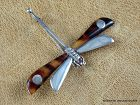 William Spratling Silver & Shell Dragon Fly Pin