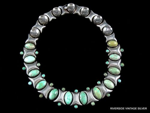 ANTONIO Pineda Necklace Turquoise & Sterling Silver