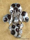 William SPRATLING Orchid Pin Sterling Silver 1940's