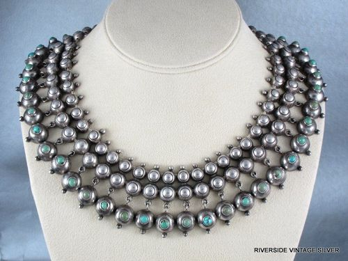 William SPRATLING Necklace - Turquoise & Sterling Silver