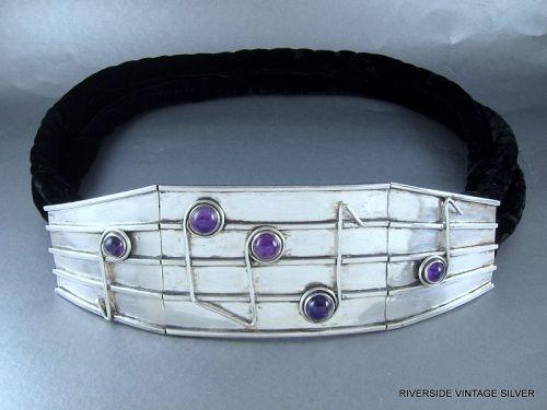 ANTONIO Pineda Belt - Silver, Amethyst, Velvet