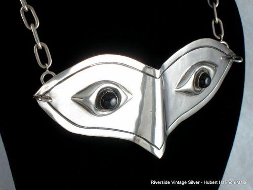 Hubert HARMON Mask Silver & Onyx Museum Piece