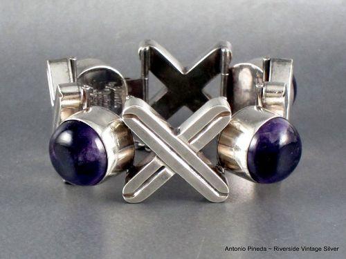 ANTONIO PINEDA Amethyst & Sterling Silver Bracelet