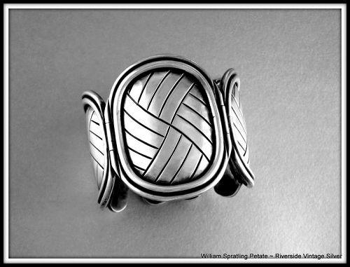 """William Spratling """"Petate"""" Bracelet Sterling Silver 1940-46"""