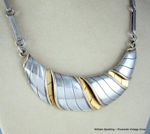 "William Spratling Sterling Silver ""Croissant"" Necklace"