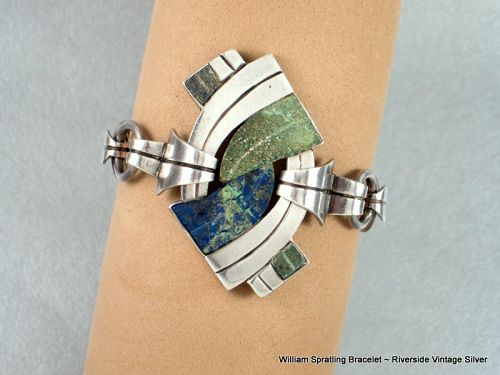 William Spratling Bracelet Sterling Silver & Stone