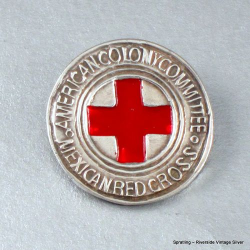 Vintage 1940's William Spratling Mexican Red Cross Pin