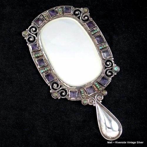 "6"" MATL Matilde Poulat Jeweled  Mirror"