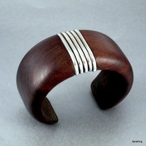 William Spratling Bracelet Rosewood and Silver