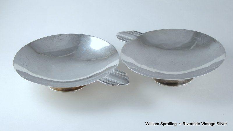 Pair William Spratling De Mexico Ash Trays 1949
