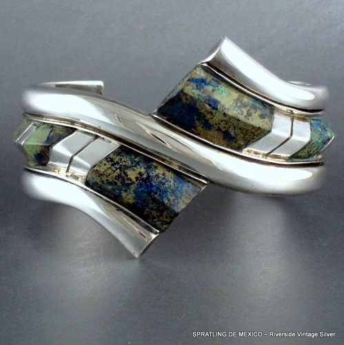 William Spratling Bracelet Modernist Silver & Stone ~ Museum Piece