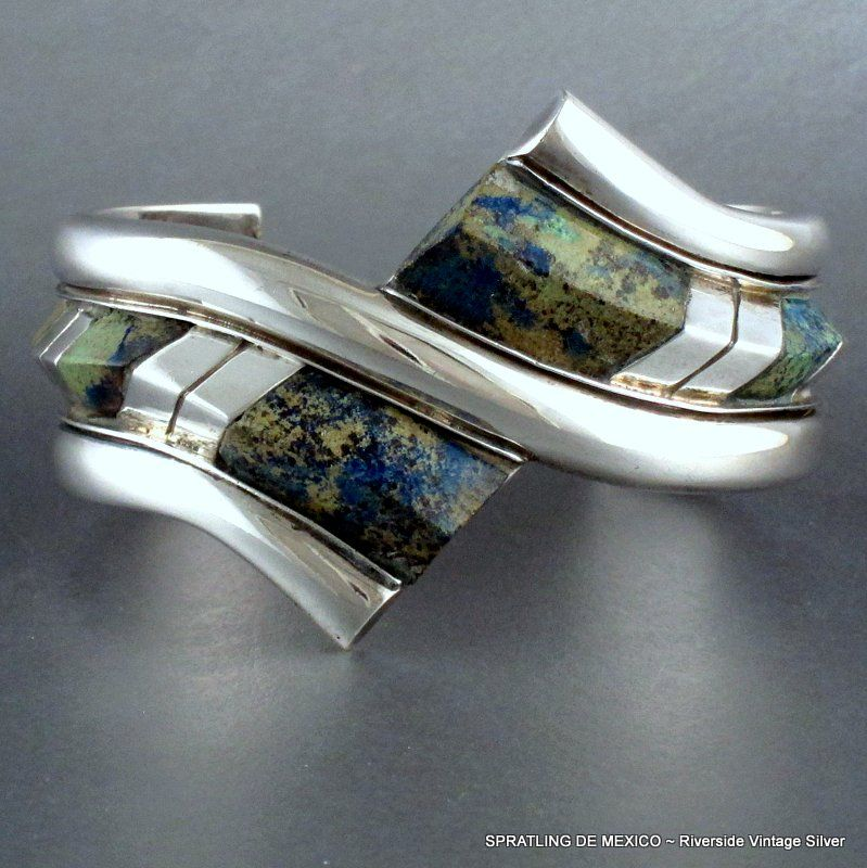William Spratling Bracelet Modernist Silver & Stone ~ Museum Piece